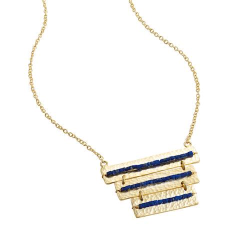Lapis Lines Necklace