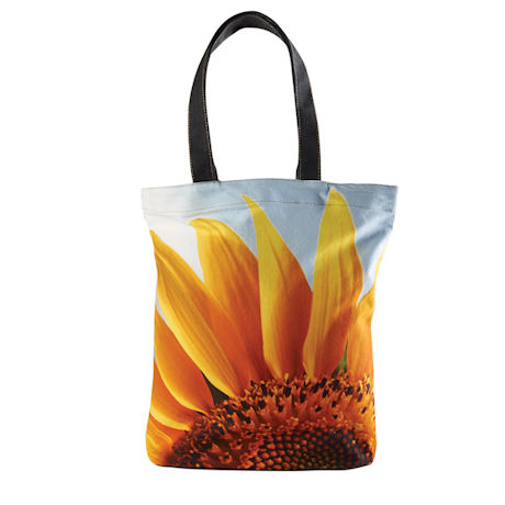Sunflower Big Bloom Canvas Tote
