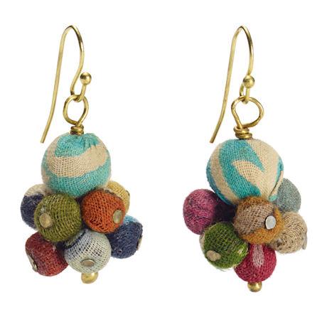 Kantha Bead Earrings
