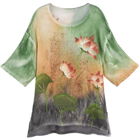 Hand-Painted Lotus Tunic