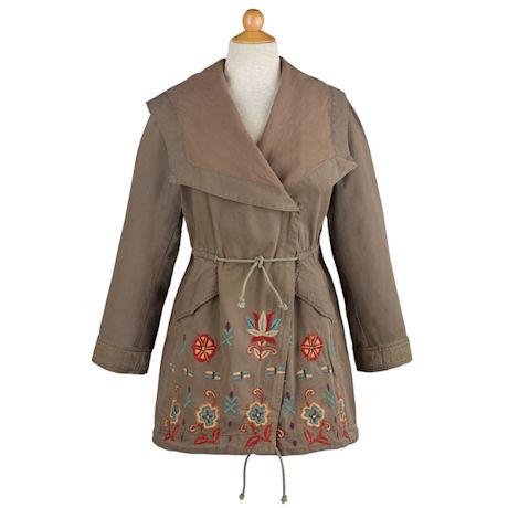 Embroidered Drawstring Jacket