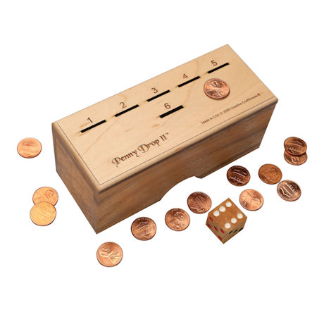 Wood Penny Drop Game