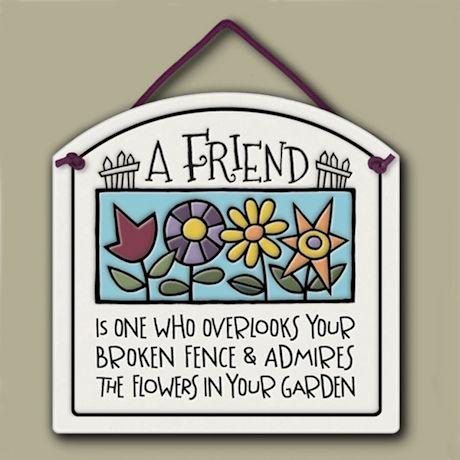 A Friend Plaque