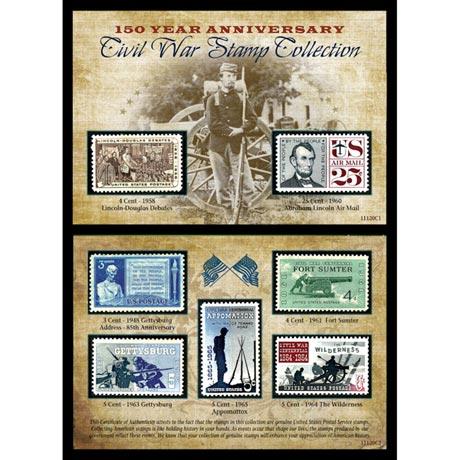 150Th Anniversary Civil War Commemorative Stamp Collection