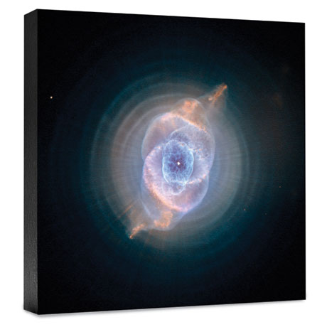 Hubble Image Canvas Print: The Cat's Eye Nebula: Dying Star Creates Fantasy-Like Sculpture Of Gas And Dust