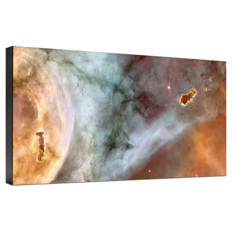 Hubble Image Canvas Print: Carina Nebula Details: The Caterpillar