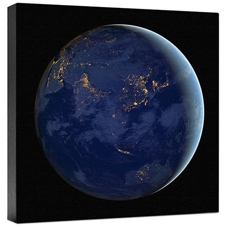 Asia At Night Wall Canvas