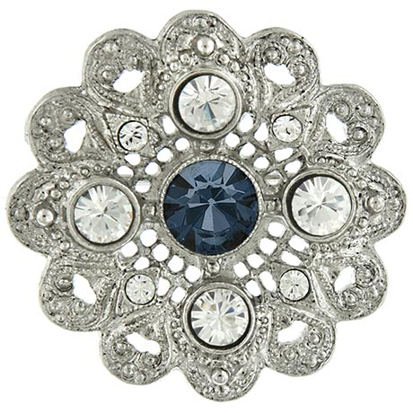 Downton Abbey Crystal Flower Brooch