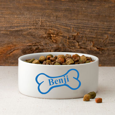 Personalized Classic Dog Bowl Large
