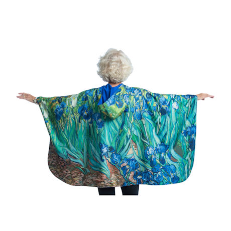 Van Gogh Irises Reversible Rain Cape