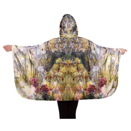 Tiffany Peonies & Iris Reversible Rain Cape