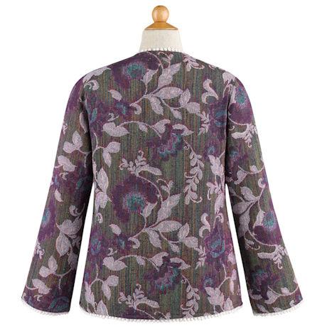 Fringe Front Jacquard Jacket