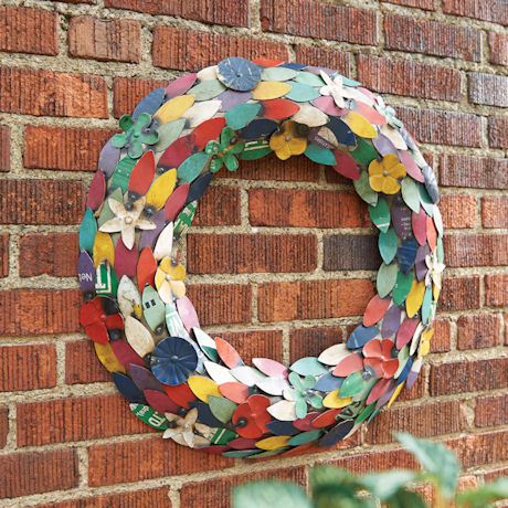 Recycled Metal Wreath