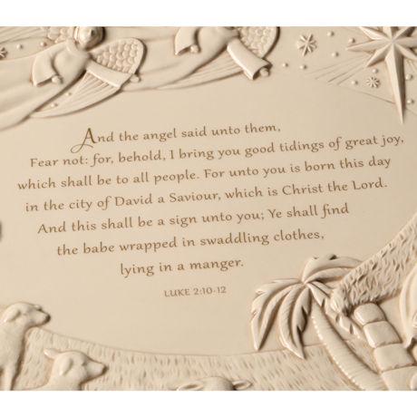 Luke 2:10-12 Nativity Scene Platter
