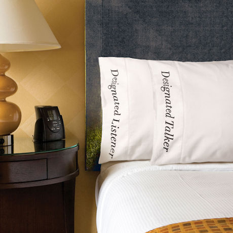 Designated Talker and Listener Pillowcases