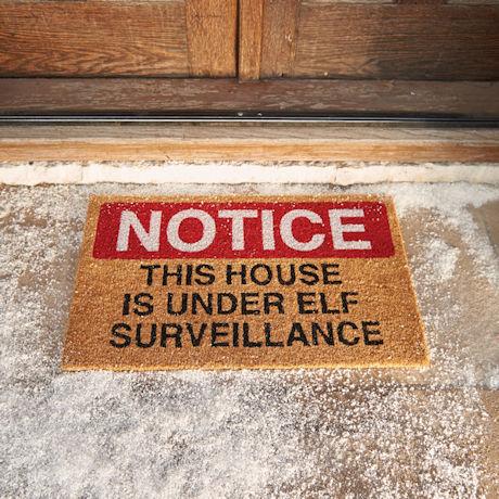 Elf Surveillance Doormat