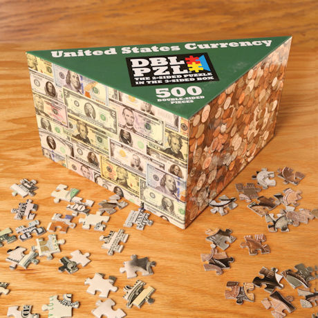 US Currency Two-Sided Puzzle