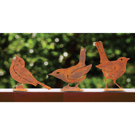Three Metal Birds