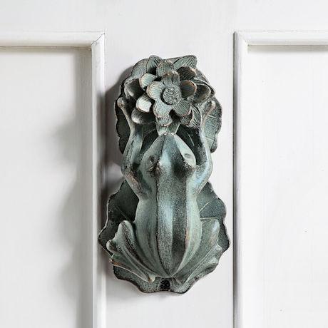 Frog and Flower Doorknocker