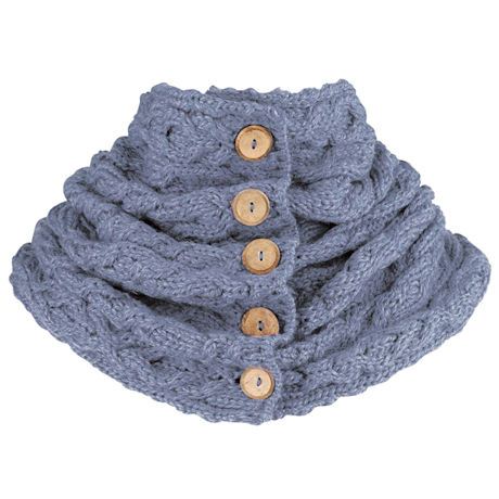 Merino Button Scarf