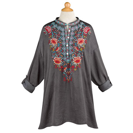 Aztec Embroidered Tunic