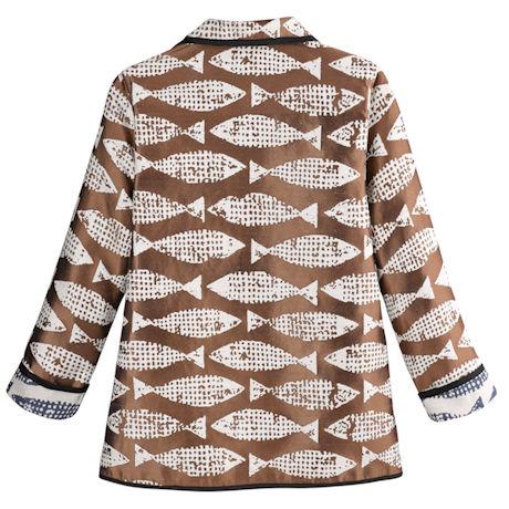 Reversible Fish Jacquard Jacket