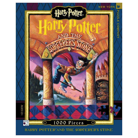 Harry Potter Sorcerer's Stone Book Cover 1000 pc Puzzle