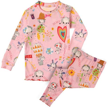 Girl's Cute Pink Pajamas - In My Heart: A Book of Feelings