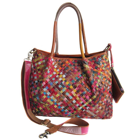 Woven Leather Tote ...