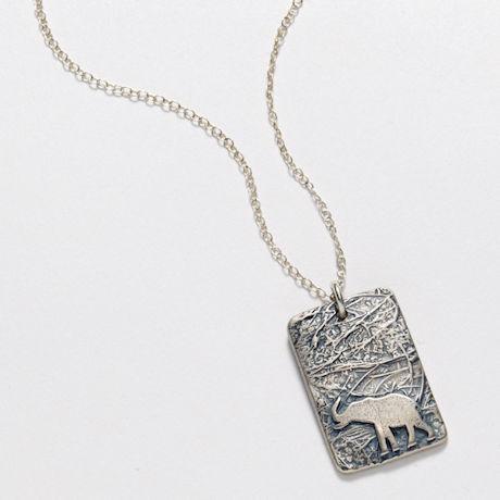 Elephant Impression Necklace