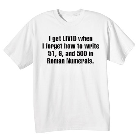 I Get LIVID Shirts