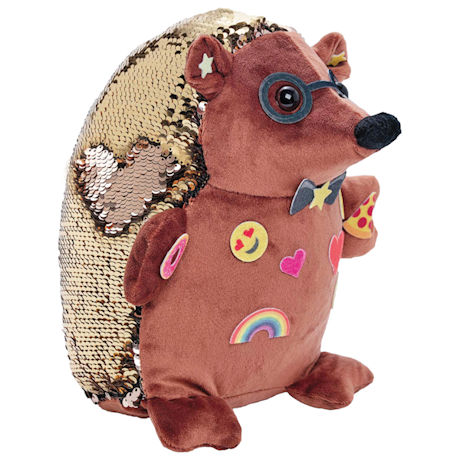 Happy the Hedgehog Flip Sequins Sensory Plush Toys