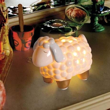 Porcelain Sheep LED Night Light