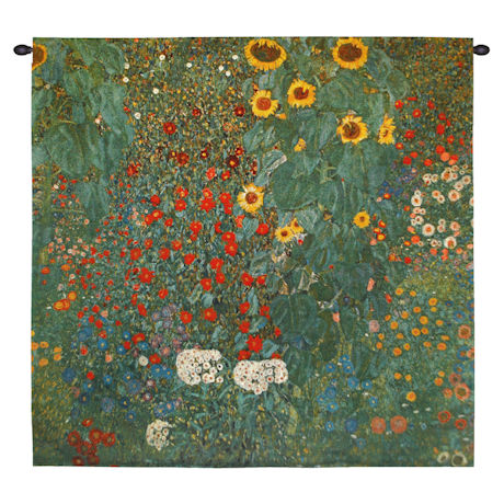 Klimt Farm Garden with Sunflowers Tapestry