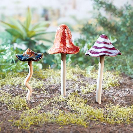 Ceramic Mushroom Stakes