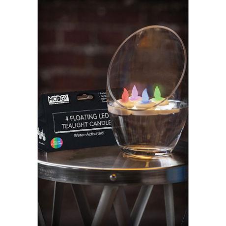 LED Floating Candles Set of 4
