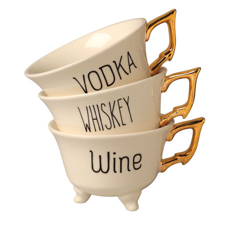 Wine and Spirits Footed Cups Set
