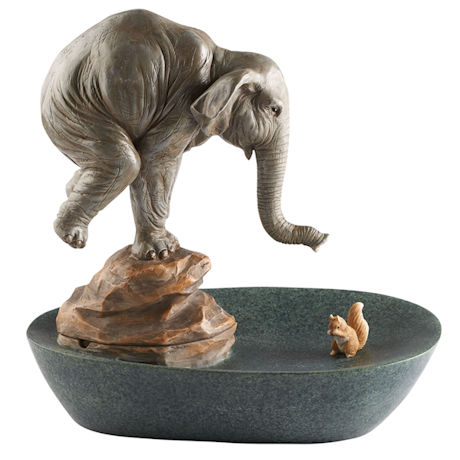 Elephant and Squirrel Table Fountain