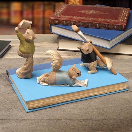 Three Little Squirrels Décor - Set of 3