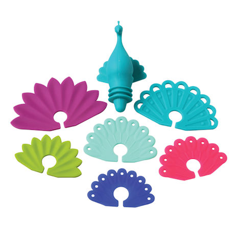 Peacock Bottle Stopper and Wine Glass Markers