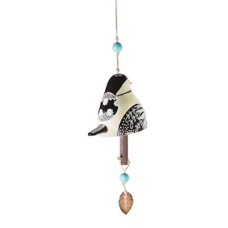 Hand Painted Ceramic Hanging Bird Bells