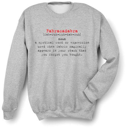 f63b9a04 Fabracadabra Definition - Funny Quilting/Crafting Shirts   Signals ...
