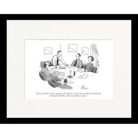 Study the Trends Custom Cartoon - Personalized New Yorker Cartoonist Print (Matted or Matted and Framed)