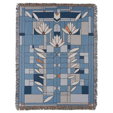 Frank Lloyd Wright® Waterlilies Throw Blanket