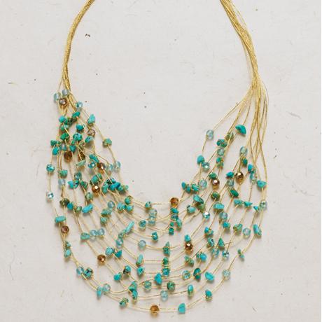 Golden Strands Necklace