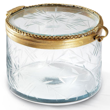 Etched Glass Jewel Box