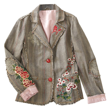 Yoshino Blossom Embroidered Jacket