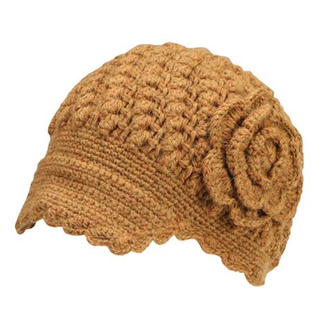 Cottage Crocheted Newsboy Cap