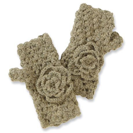 Cottage Knit Newsboy Mittens