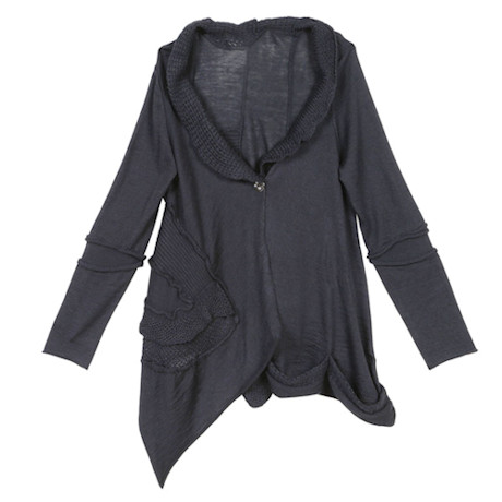 Cashmere Medley One-Button Cardigan